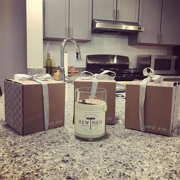 When your owner's come in and give you presents! Happy Monday to us!! ✨ . . . . #westelm #candles #happymonday #mondaymotivation #atlanticatgrandoaks #westashley #charleston #grandnewliving #smell